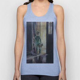 Waiting for a miracle Original oil painting on canvas Impressionism Artwork Unisex Tank Top