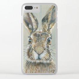 Irish Hare Clear iPhone Case