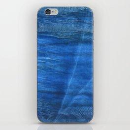 Lapis lazuli abstract watercolor iPhone Skin