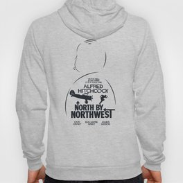 North by Northwest, Alfred Hitchcock, minimal movie poster, classic film, Cary Grant, alternative Hoody