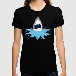 Cartoon Shark Splash T-shirt