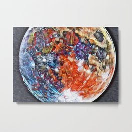 Graffiti Moon Metal Print