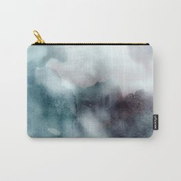 Watercolor ikat hipster pastel nautical blue purple ombre watercolour painting print Carry-All Pouch