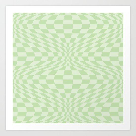 Greens - Optical Game 25 Art Print