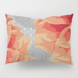 Survival of Strong Flowers Pillow Sham