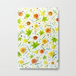 Leaves and flowers (11) Metal Print