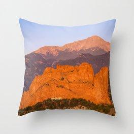 Beautiful Kissing Camels Colorado Spring Throw Pillow