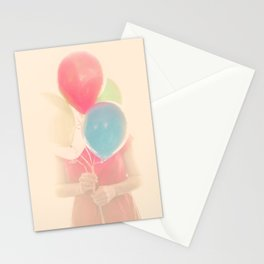 Balloon Girl Stationery Cards