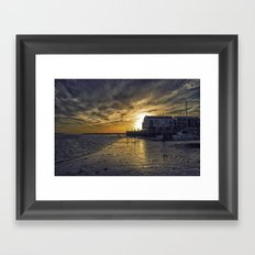 Brightlingsea Harbour Framed Art Print