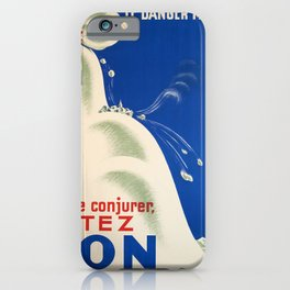vintage Plakat le danger menace pour le conjurer iPhone Case