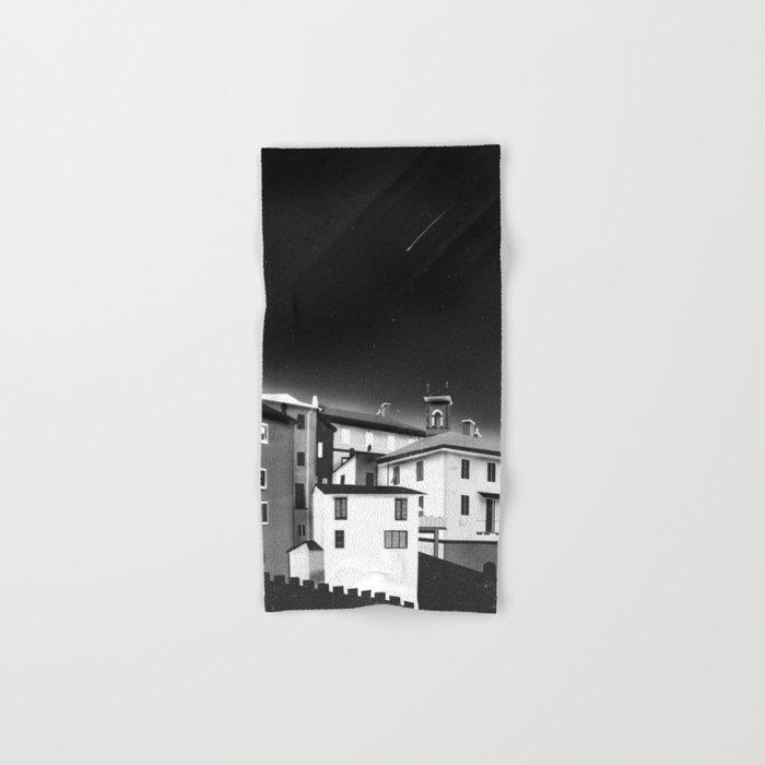 Castles at Night (B&W) Hand & Bath Towel
