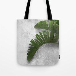 Banana Leaves on Wall Tote Bag
