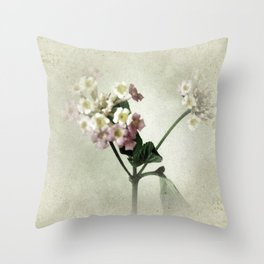 Lantana Flowers Throw Pillow