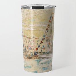 """Paul Signac """"La Rochelle, bateaux pavoisés"""" Travel Mug"""