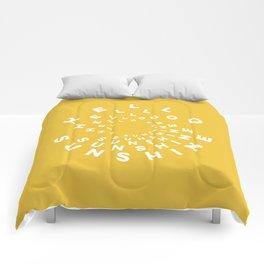 Hello Sunshine #minimal #typography #summervibes Comforters