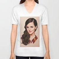 gryffindor V-neck T-shirts featuring Queen of Gryffindor by The Art Of Dreams