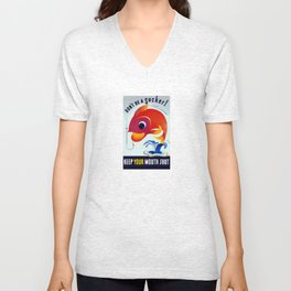 Don't Be A Sucker! Keep Your Mouth Shut Unisex V-Neck