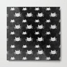 Kitties | Black Metal Print