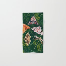 Moths and dragonfly Hand & Bath Towel