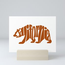 California Bear (Brown) Mini Art Print