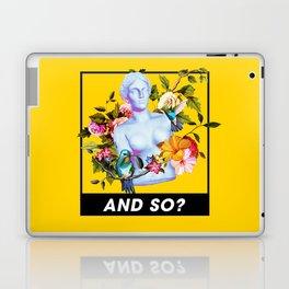 Vaporwave Venus with Flowers Laptop & iPad Skin