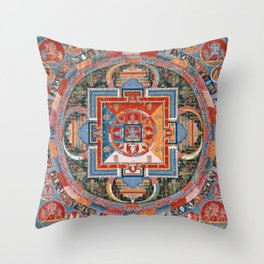 Mandala of Jnanadakini Throw Pillow