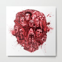 The Essence of Horror [Red] Metal Print
