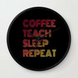 Coffee Coffee Lover Coffee Drinker Coffee Cups Wall Clock