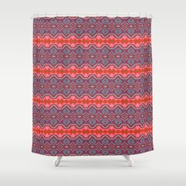 Summer splash - Coral and Blue Shower Curtain