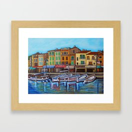 Colours of Cassis Framed Art Print