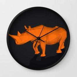 Rhino low poly style Wall Clock
