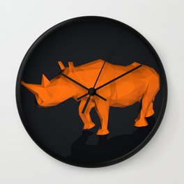 Rhino low poly style Wall Clock