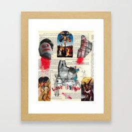 Love is Pain Framed Art Print