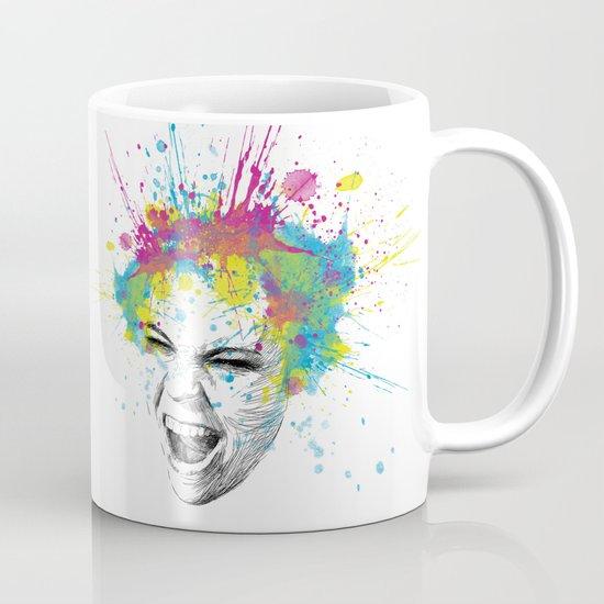 Crazy Colorful Scream Mug