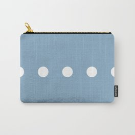 white dots on placid blue color background Carry-All Pouch