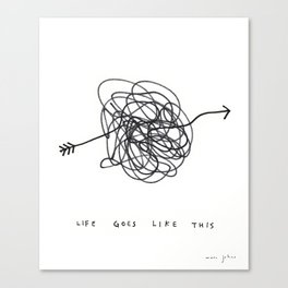 life goes like this Canvas Print