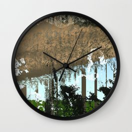 landscape collage #05 Wall Clock