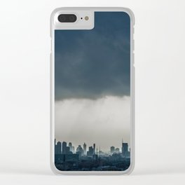 Tropical City Clear iPhone Case