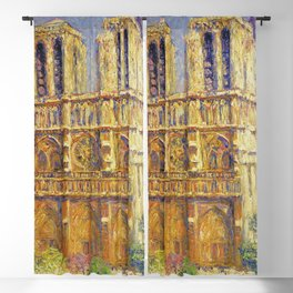 Paris, Notre Dame Cathedral, the Effect of Sunlight, French landscape by Francis Picabia Blackout Curtain