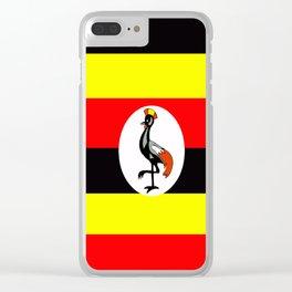 Flag of Uganda Clear iPhone Case