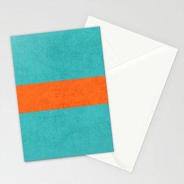 aqua and orange classic Stationery Cards