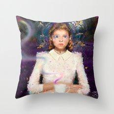 a tea with Alice Throw Pillow