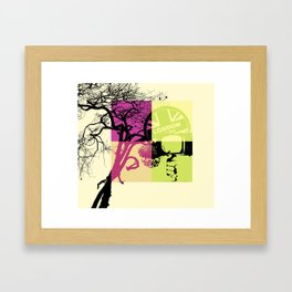 London collage Framed Art Print