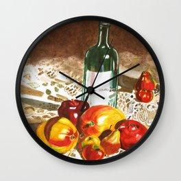 Sunny Poms and Mangoes Wall Clock