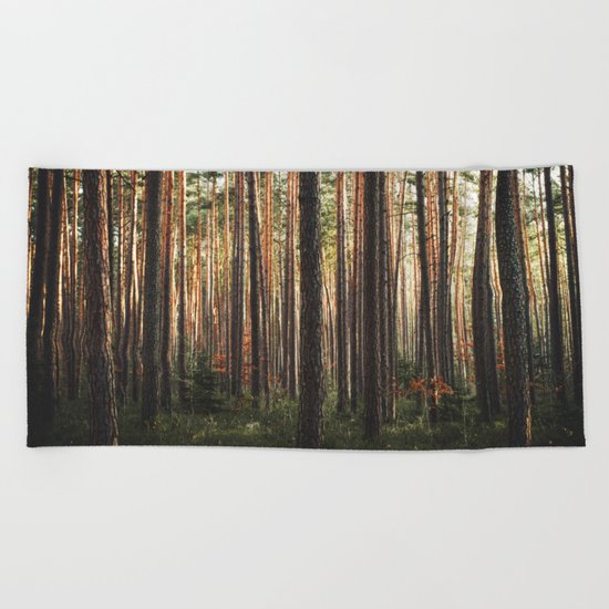 Through The Wood Beach Towel