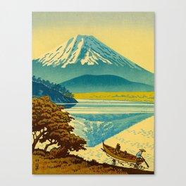 Japanese Woodblock Print Vintage Asian Art Colorful woodblock prints Mount Fuji Canvas Print