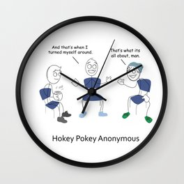 Hokey Pokey Anonymous Wall Clock
