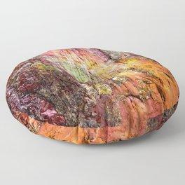 Colorful Nature : Texture Warm Tones Floor Pillow