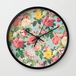 Floral B Wall Clock