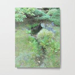 Japanese Tea Garden Hidden Stream Metal Print